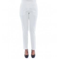 Women Pants Cigarette in Stretch Cotton