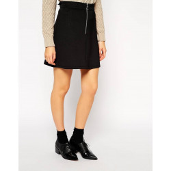 A-Line Skirt in Scuba with Zip Front