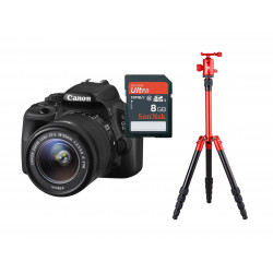 Pack Camera + SD Card + Tripod