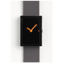 Led Watch Black Orange