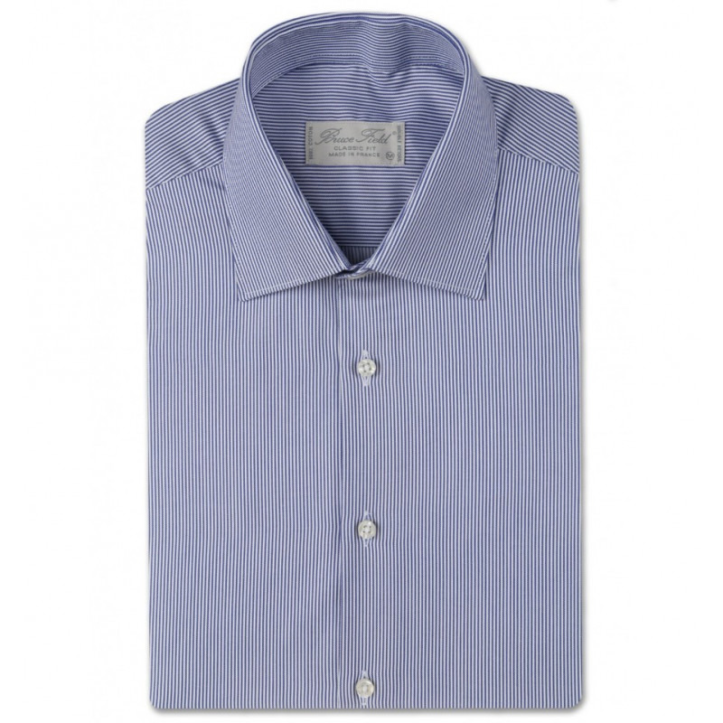 Chemise homme coupe droite aux fines rayures