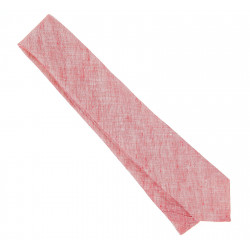 Cravate Hugo Boss bleu chiné en lin