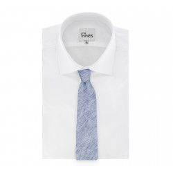 Cravate Hugo Boss bleu chiné en lin